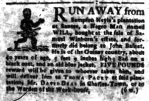 Jul 25 - South-Carolina Gazette Slavery 1