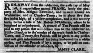 Jul 26 - South-Carolina Gazette and Country Journal Slavery 4