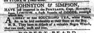 Jul 26 - South-Carolina Gazette and Country Journal Slavery 6