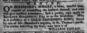 Jul 26 - South-Carolina Gazette and Country Journal Slavery 8