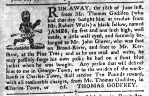 Jul 26 - South-Carolina Gazette and Country Journal Supplement Slavery 2