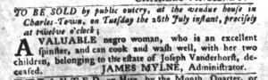 Jul 26 - South-Carolina Gazette and Country Journal Supplement Slavery 4
