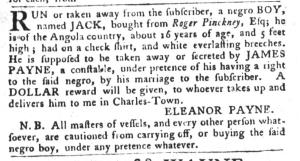 Jul 26 - South-Carolina Gazette and Country Journal Supplement Slavery 7