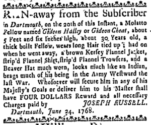 Jul 28 - Boston Weekly News-Letter Slavery 2