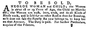 Jul 28 - Pennsylvania Gazette Supplement Slavery 1