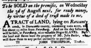 Jul 28 - Virginia Gazette Purdie and Dixon Slavery 7