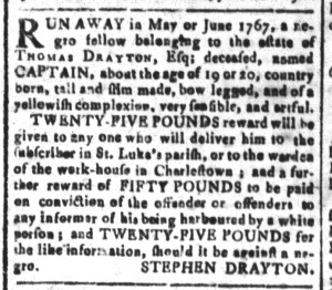 Jul 29 - South Carolina and American General Gazette Slavery 6
