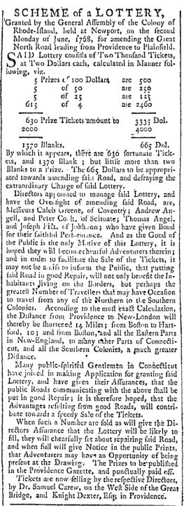 Jul 30 - 7:30:1768 Providence Gazette