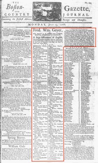 Jul 31 - 7:25:1768 Boston-Gazette