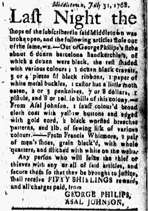 Aug 12 - 8:12:1768 New-London Gazette