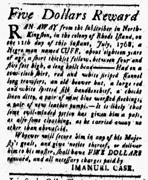 Aug 12 - New-London Gazette Slavery 1