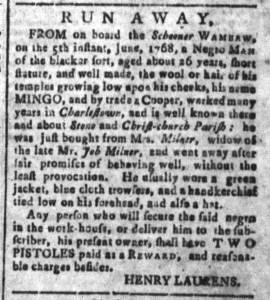 Aug 12 - South-Carolina and American General Gazette Slavery 3