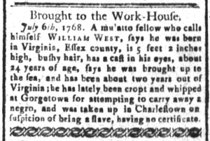 Aug 12 - South-Carolina and American General Gazette Slavery 7