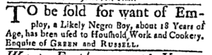 Aug 15 - Massachusetts Gazette Green and Russell Slavery 1