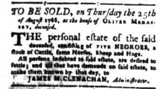 Aug 15 - South-Carolina Gazette Slavery 11