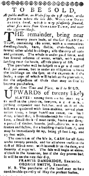 Aug 15 - South-Carolina Gazette Slavery 5