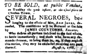 Aug 15 - South-Carolina Gazette Slavery 8