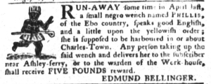 Aug 16 - South-Carolina Gazette and Country Journal Slavery 2