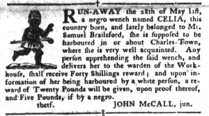 Aug 16 - South-Carolina Gazette and Country Journal Slavery 3