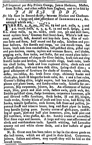 Aug 18 - 8:18:1768 Pennsylvania Gazette