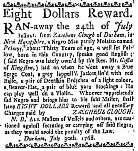 Aug 18 - Boston Weekly News-Letter Slavery 2