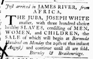 Aug 18 - Virginia Gazette Purdie and Dixon Slavery 4