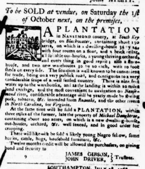 Aug 18 - Virginia Gazette Purdie and Dixon Slavery 5