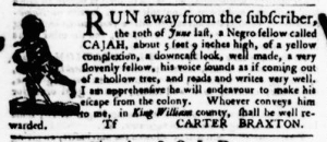 Aug 18 - Virginia Gazette Purdie and Dixon Slavery 7