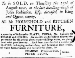 Aug 18 - Virginia Gazette Purdie and Dixon Slavery 8