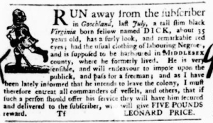 Aug 18 - Virginia Gazette Purdie and Dixon Slavery 9