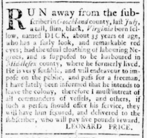 Aug 18 - Virginia Gazette Rind Slavery 10