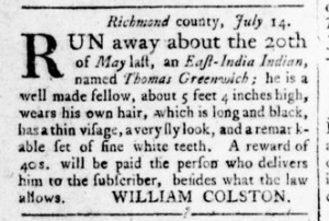 Aug 18 - Virginia Gazette Rind Slavery 7