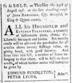 Aug 18 - Virginia Gazette Rind Slavery 9
