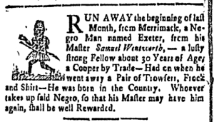 Aug 19 - New-Hampshire Gazette Slavery 1
