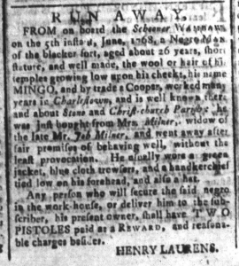 Aug 19 - South-Carolina and American General Gazette Slavery 7