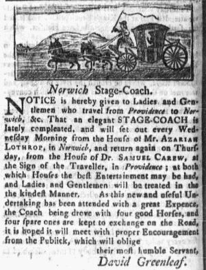 Aug 22 - 8:22:1768 Massachusetts Gazette Green and Russell