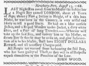 Aug 22 - Boston-Gazette Slavery 1