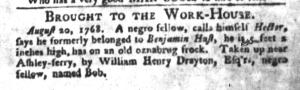 Aug 23 - South-Carolina Gazette and Country Journal Slavery 2