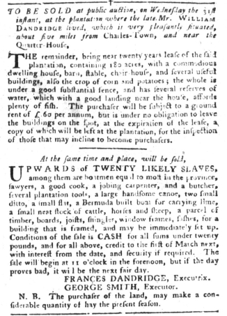 Aug 23 - South-Carolina Gazette and Country Journal Slavery 4