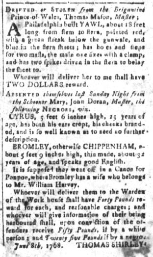 Aug 26 - South-Carolina and American General Gazette Slavery 6