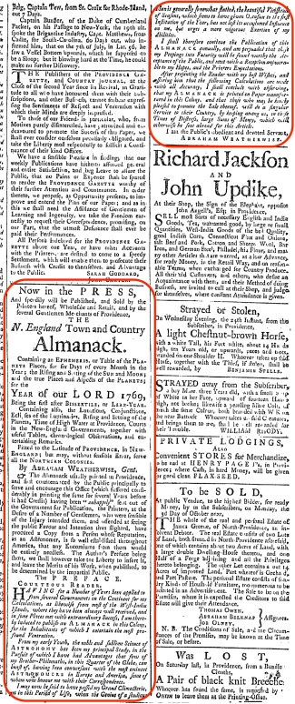 Providence Gazette The Adverts 250 Project