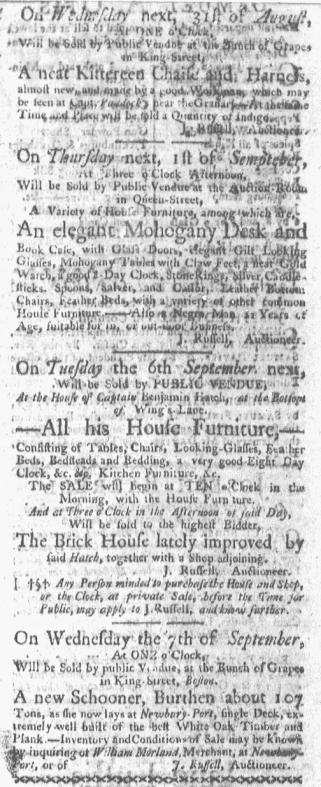 Aug 29 - Boston-Gazette Slavery 1