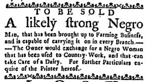 Sep 1 - Massachusetts Gazette Draper Slavery 1