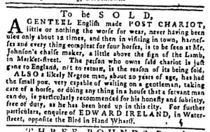 Sep 1 - Pennsylvania Gazette Slavery 1