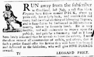 Sep 1 - Virginia Gazette Purdie and Dixon Slavery 11