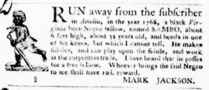 Sep 1 - Virginia Gazette Purdie and Dixon Slavery 8