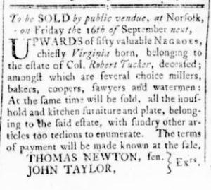 Sep 1 - Virginia Gazette Rind Slavery 2