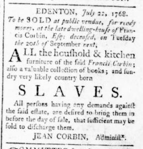 Sep 1 - Virginia Gazette Rind Slavery 3