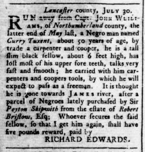 Sep 1 - Virginia Gazette Rind Slavery 5