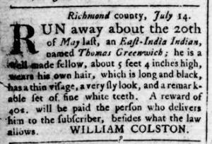 Sep 1 - Virginia Gazette Rind Slavery 6